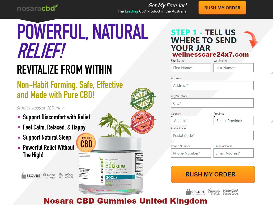 Nosara CBD Gummies United Kingdom Reviews